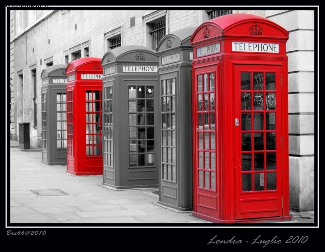 London in...red and grey....