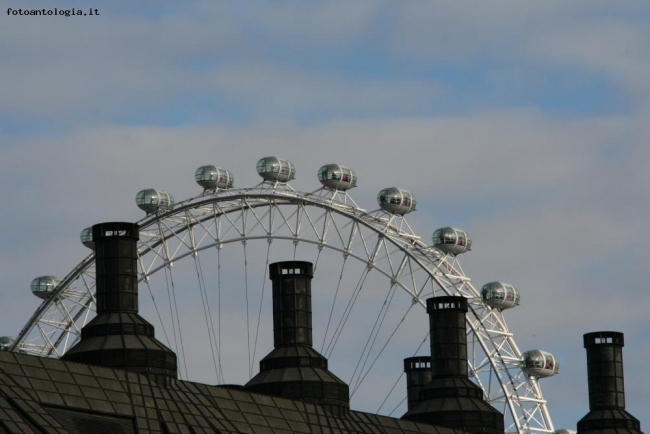 London Eye tra i comignoli